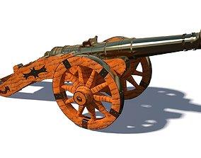 Cannon Miniature 3D asset low-poly
