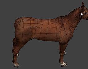 Horse Low poly 3D asset