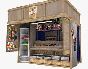 Kiosk textured 3D asset