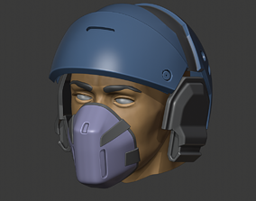 3D print model Phoenix helmet from Dirty Bomb