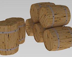 Wooden Barrels wooden 3D model