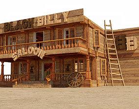 house 3D Stylized saloon set