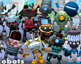 animated VR / AR ready 3DRT-Chibii Robots