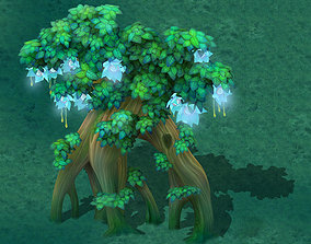 3D model Cartoon Edition - Wizard Tree