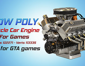3D model Muscle Car Engine - V8 Muscle Engine Three