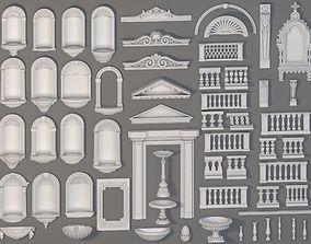 Exterior Decorations - 58 pieces 3D model