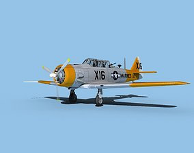 3D model North American SNJ armed V06 US Marines