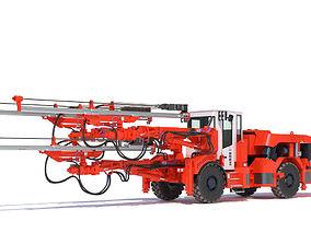 3D model equipment Sandvik DD530 Mining Jumbo