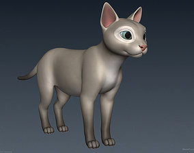 Stylized Cartoon Cat 3D