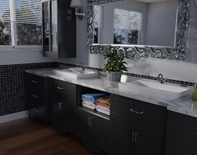 PBR Modern Bathroom 3D model