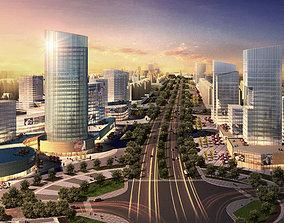 office 3D City Scene 010
