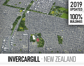 Invercargill - city and surroundings 3D model