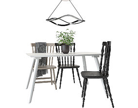 Dining Furnitures Set 41 3D