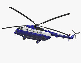 Mi-8AMT Russian Police 3D model