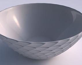 3D printable model Bowl wide with strange tiles