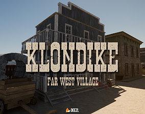 3D asset Klondike - Far West Village - Unreal Engine UE4