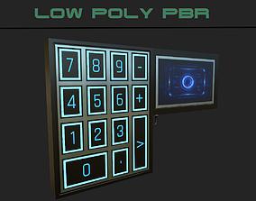 3D asset Sci-fi Security Keypad