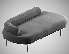 peanut sofa 06 3D model