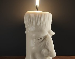 3D printable model Old cream candle