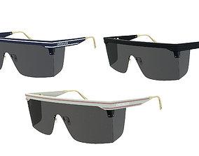 3D asset Dior Mask Sunglasses DiorClub M1U