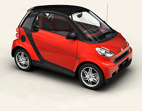 3D model Smart ForTwo Coupe 2009