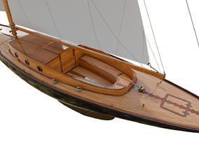 3D model 60ft Classical Sailing Yacht Elise