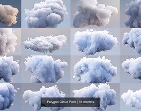 3D model Polygon Cloud Pack