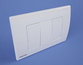 3D Socket power switch Interruttore bticino livinglight