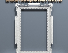 3d carved mirror frame ready for cnc carving and mold 1
