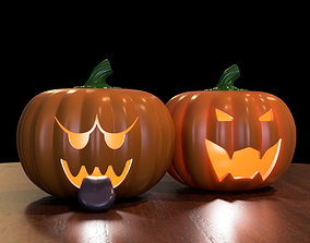 Boo and Bowser Pumpkins 3D print model