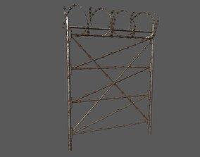 Military Barbwire Fences 3D asset
